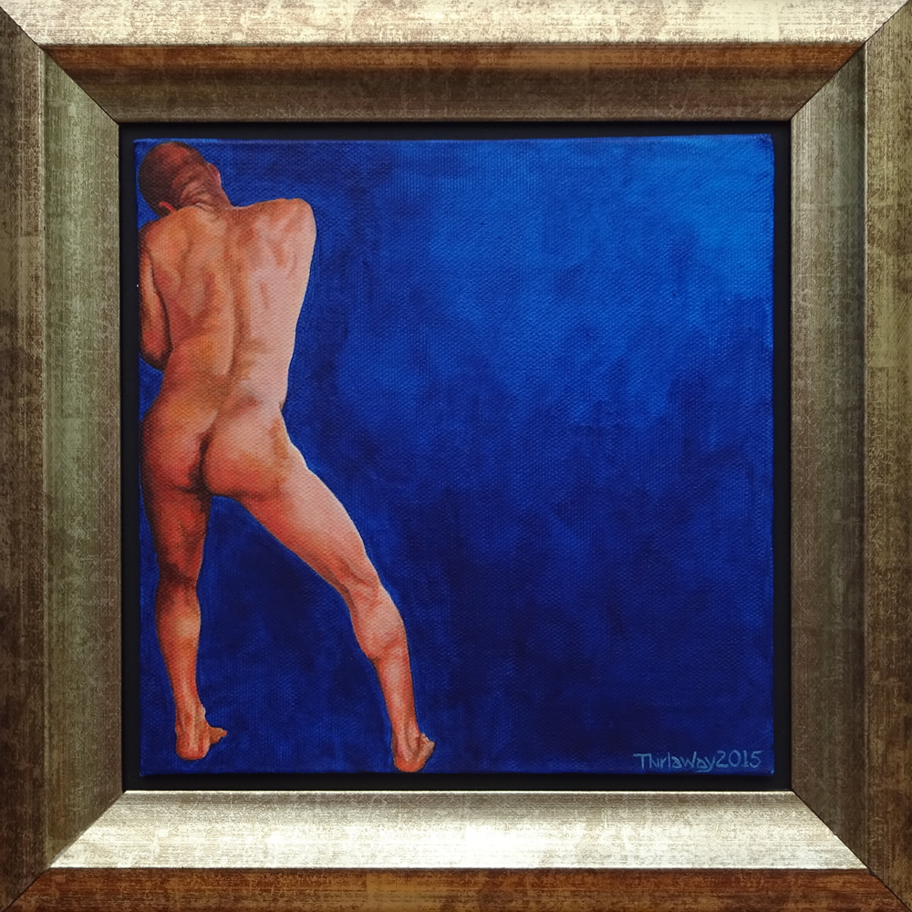 Chrissy Thirlaway, Edge, Acrylic on canvas, 30x30cm