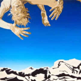 Chrissy Thirlaway, Falling Not Flying, Oil on canvas, 102x76cm