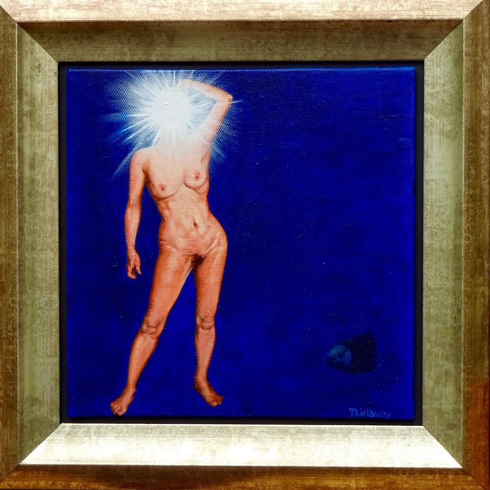 Chrissy Thirlaway, I Think I'm Losing My Head, Acrylic on canvas, 30x30cm