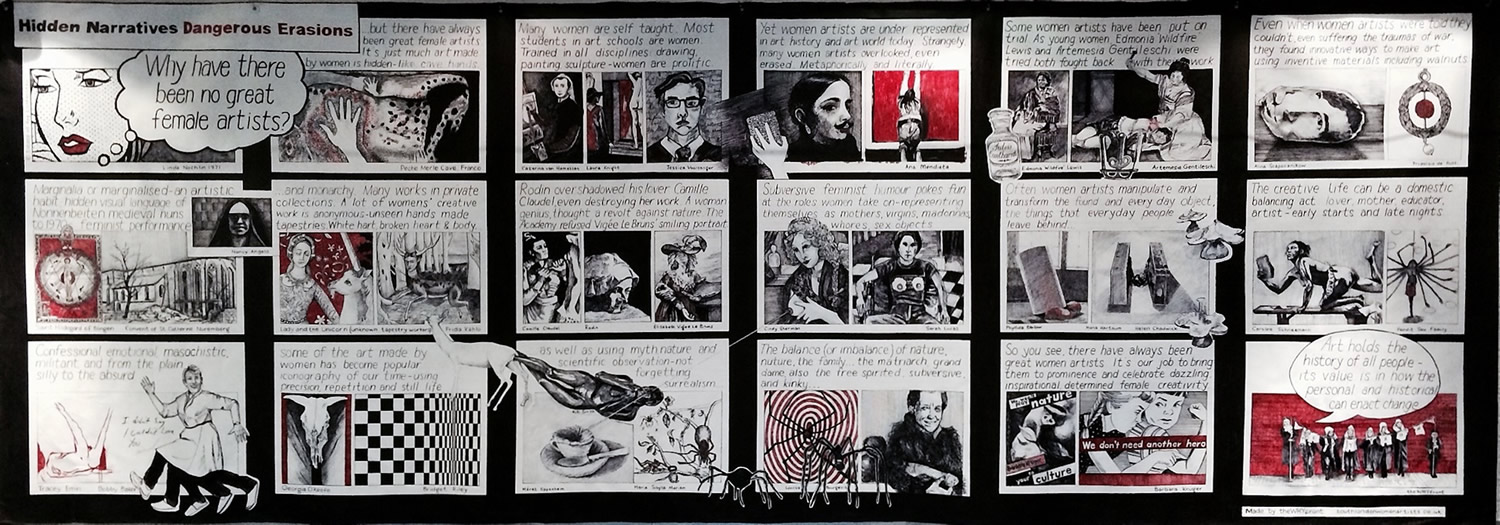 Chrissy Thirlaway and Others, Hidden Narratives Dangerous Erasions, Sharpie on canvas, 600x200cm