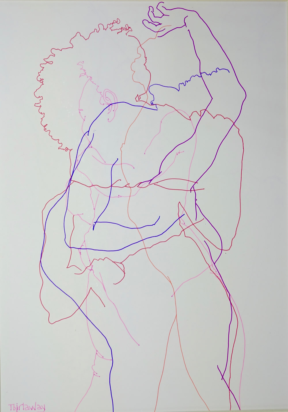 Chrissy Thirlaway, Blind Drawing 15th March, Pen on paper, 25x32cm