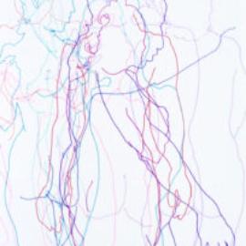 Chrissy Thirlaway, Blind Drawing 25th November, Pen on paper, 25x32cm