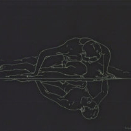 Chrissy Thirlaway, Caravaggio is Narcissus, Coloured pencil on paper, 25x30cm