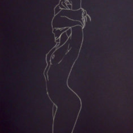 Chrissy Thirlaway, Dress-Undress 3, Pencil on paper, 20x15cm