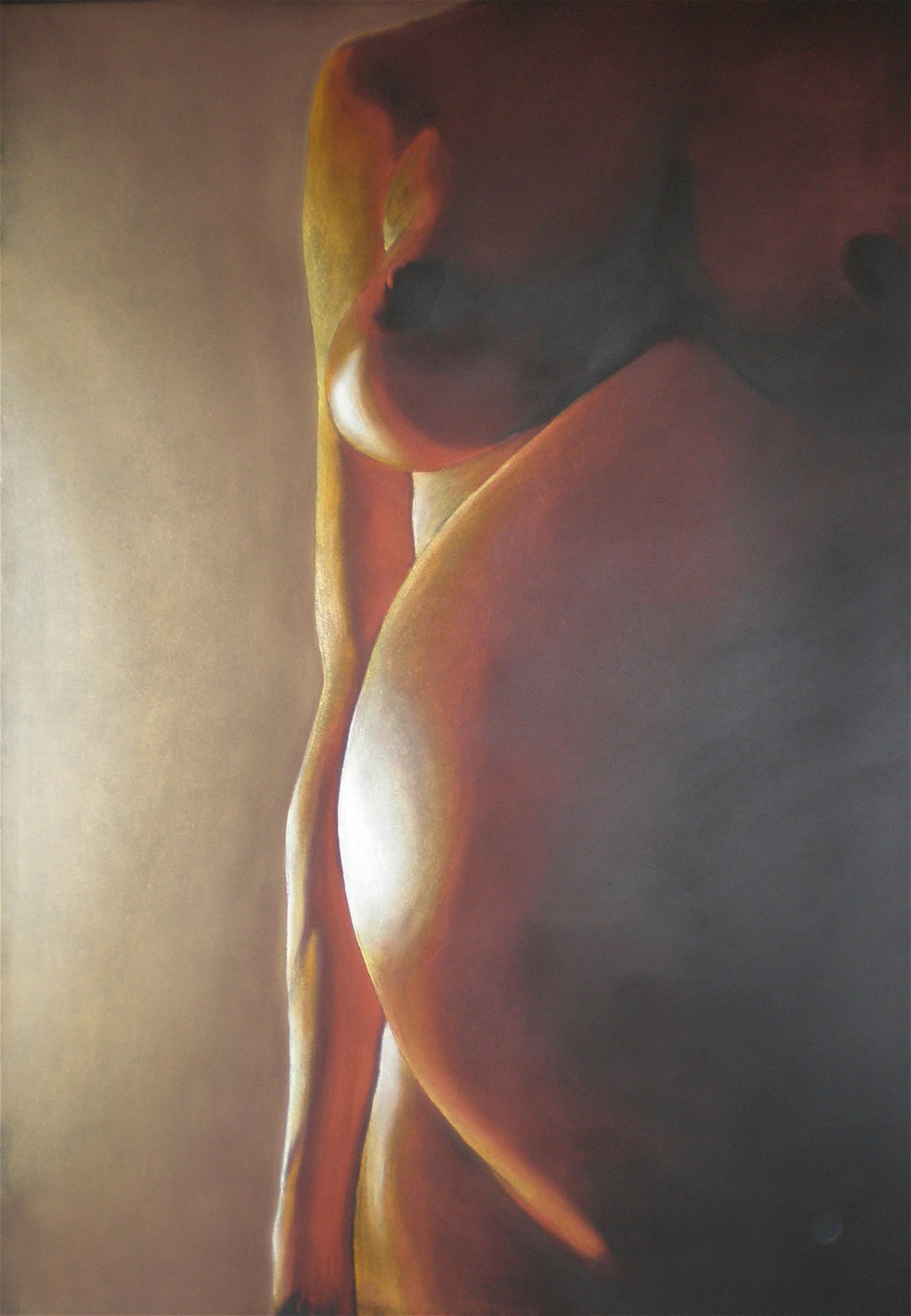 Chrissy Thirlaway, Fertility Goddess, Pastel on paper, 60x84cm