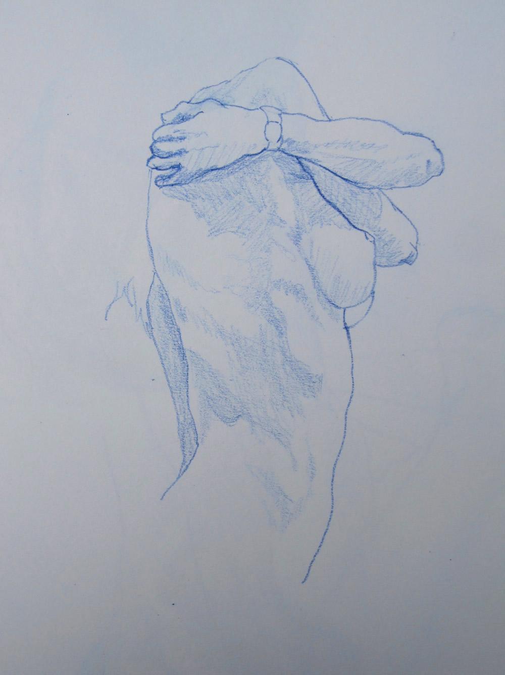 Chrissy Thirlaway, Life 15 series 6, Pencil on paper, 25x32cm