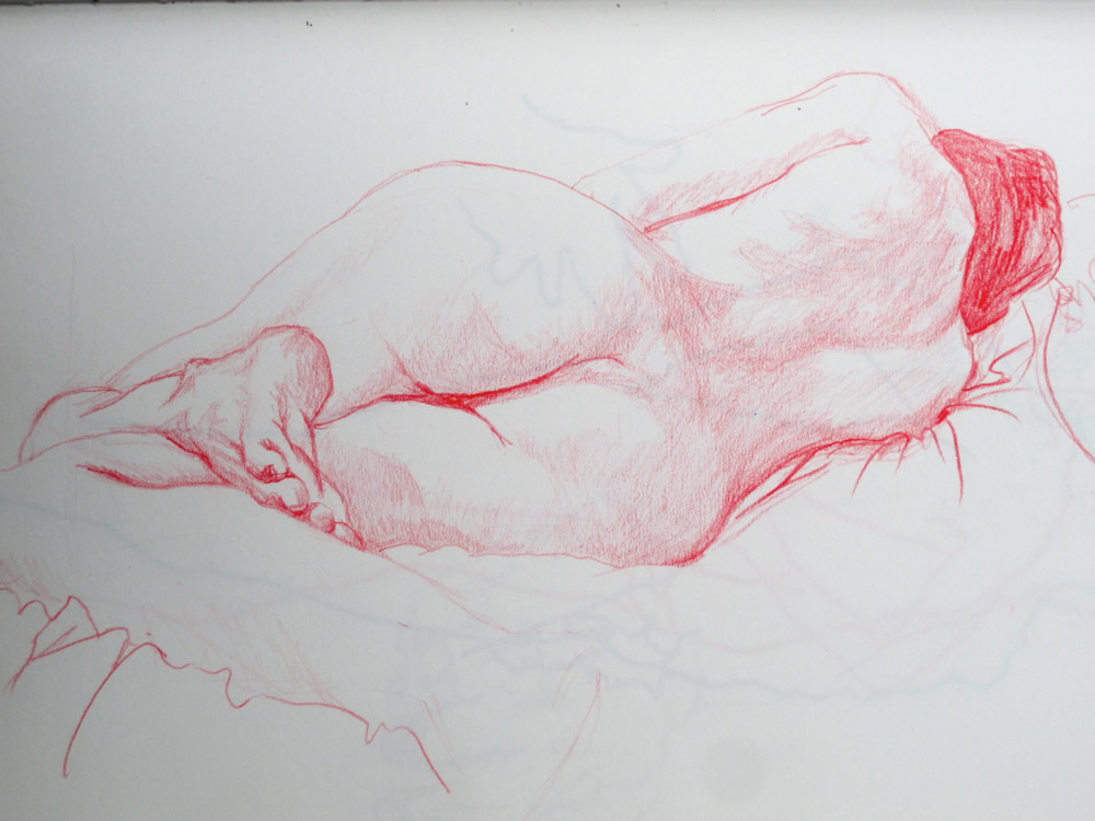 Chrissy Thirlaway, Life 17 series 4, Pencil on paper, 25x32cm